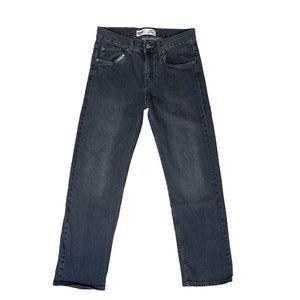 Levi's 550 vintage black straight leg jeans 28